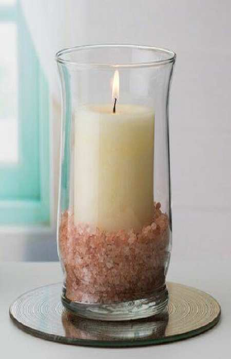 Himalayan Pink Salt Candle Holder