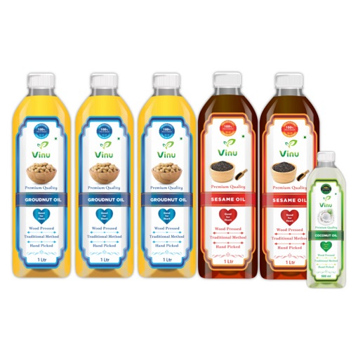 Organic cold pressed cooking oils