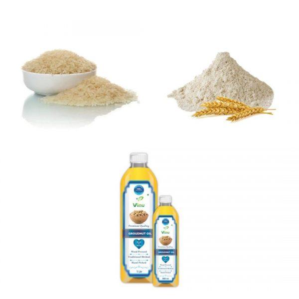 Ponni Boiled Rice Wheat Flour Groundnut OIl - Futuro combo